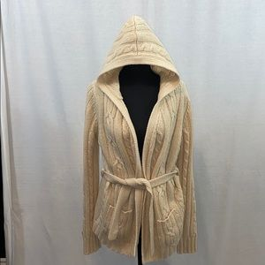 Abercrombie and Fitch hooded cable knit cardigan